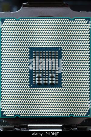 modern cpu computer chip - Stock Photo