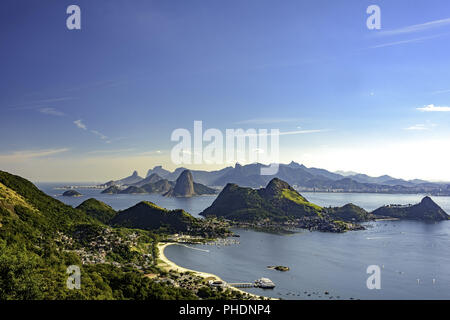 View of Rio de Janeiro from Niteroi - Stock Photo