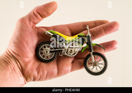 Close-up of cross motorbike motorcycle toy - Stock Photo