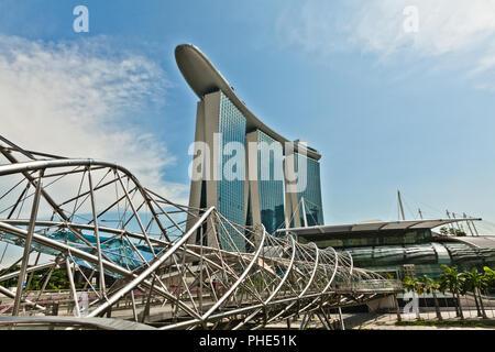 SANDS COMPLEX, MARINA BAY, SINGAPUR. - Stock Photo