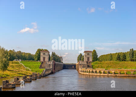 Gateway on Moscow Canal, Russia - Stock Photo