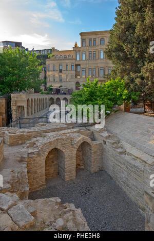 Old town in center of Baku city, Azerbaijan - Stock Photo