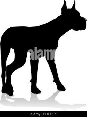 Dog Silhouette Pet Animal - Stock Photo