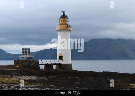 The remote lighthouse at Rubha nan gall near Tobermory on the Isle of Mull in the Scottish Highlands - Stock Photo
