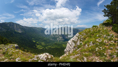 Mountains and canyon in Durmitor, Montenegro - Stock Photo