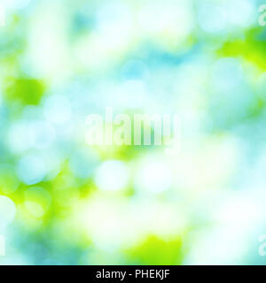 Abstract blue, green and yellow lights - Stock Photo