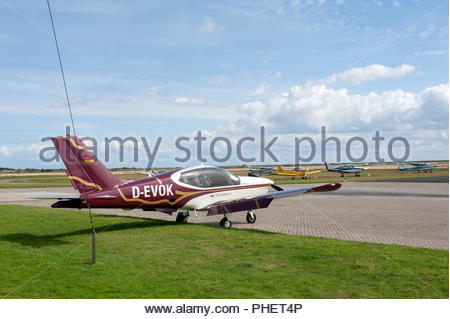 Borkum Germany Borkum airfield / flugplatz Socata TB-20 Trinidad D-Evok - Stock Photo