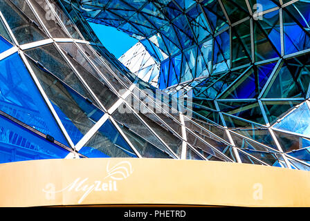 Spectacular roof of the MyZeil Shopping Mall in Frankfurt, Germany - Stock Photo