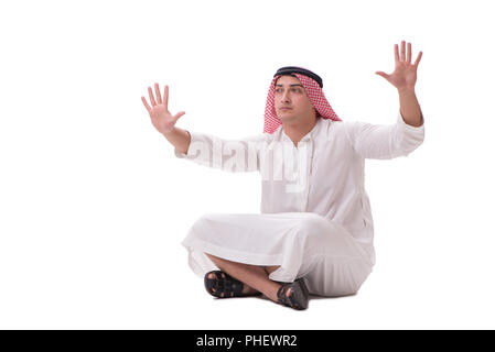 Arab businessman isolated on white background - Stock Photo