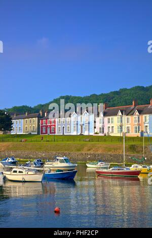 The Harbour at Aberaeron, Cardigan Bay, Wales, United Kingdom, Europe, - Stock Photo