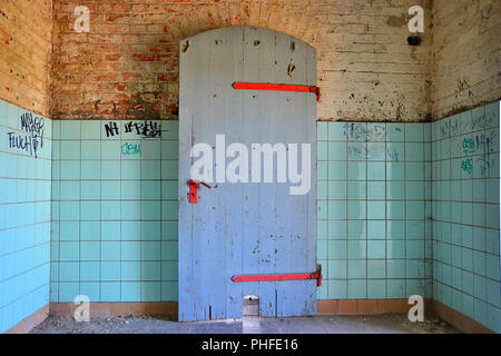 Room in a former brewery in Magdeburg - Stock Photo