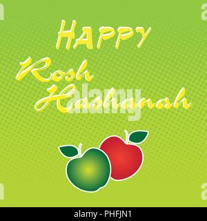 Rosh hashanah jewish new year holiday banner design - Stock Photo