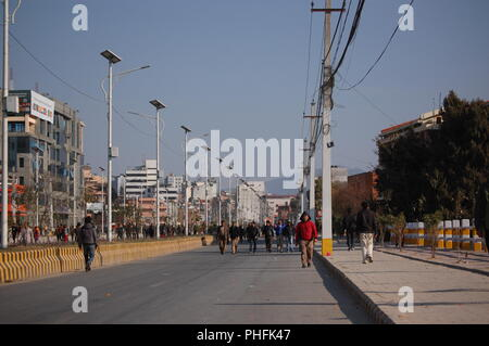 General strike day, Kathmandu, Nepal - Stock Photo