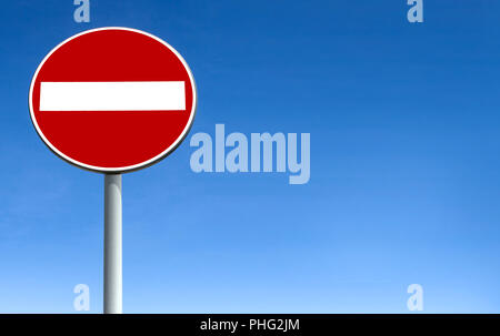 No entry for vehicular traffic - Stock Photo