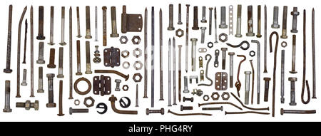 Fixing hard  metal elements - Stock Photo