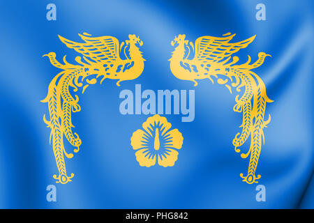 3D Presidential Standard of Republic of Korea. 3D Illustration. - Stock Photo