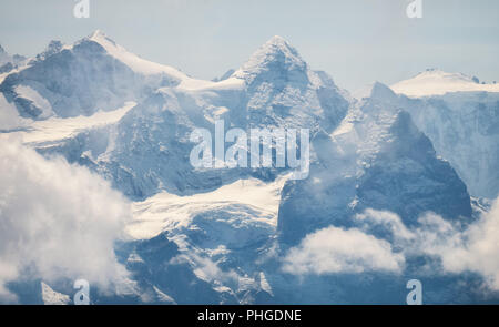 Fresh snow in August - Stock Photo