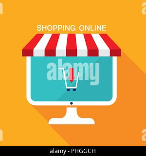 E commerce business concept. Online store,sale, buy products. - Stock Photo