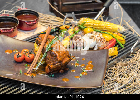 Lamb ribs - Stock Photo