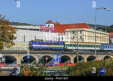 Fast Train in Usti nad Labem (Czech Republic) - Stock Photo