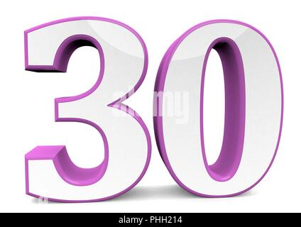 Nummer in pink - Stock Photo