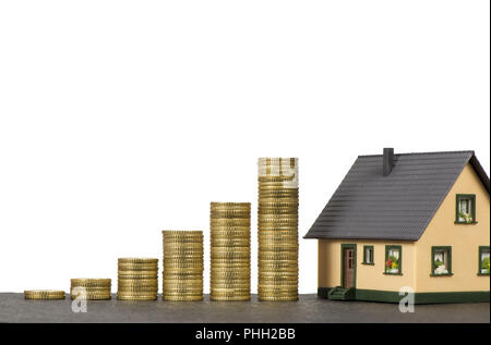 savings for sale a house - Stock Photo