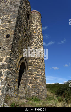 Ruins of an Engine House in Penwith, Cornwall - Stock Photo
