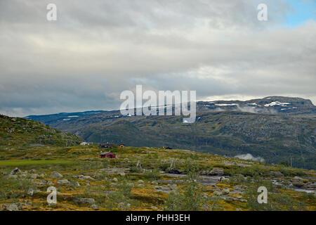 View from Trolltunga hike - Stock Photo