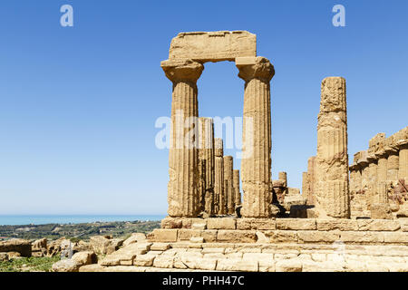 Valley of the Temples, Agrigento, Sicily, Italy - Stock Photo