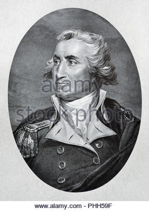 George Washington portrait 1732 – 1799 was the first President of the United States, and was among the nation's Founding Fathers, antique illustration from 1880 - Stock Photo
