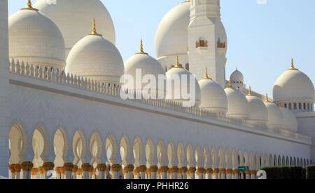 Abu Dhabi, Sheikh Zayed Grand Mosque, details - Stock Photo