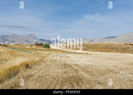 Spanish landscape in the morning - Stock Photo