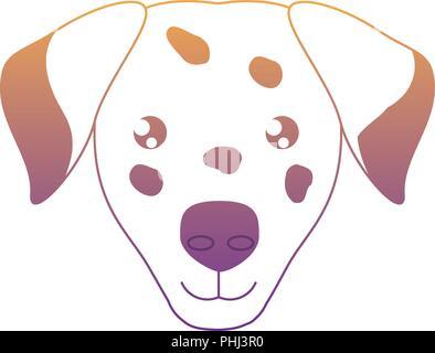 cute dalmatian dog icon over white background, vector illustration - Stock Photo