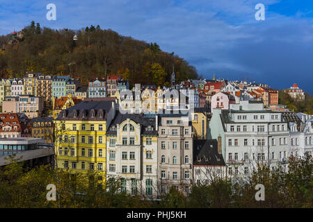 Karlovy Vary in Czech Republic - Stock Photo