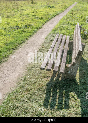Bench seat in a public space. - Stock Photo