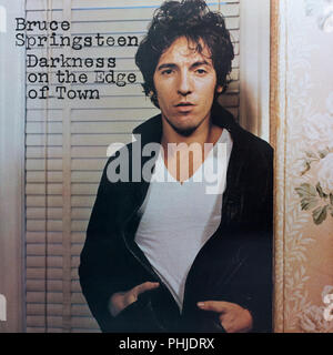Bruce Springsteen Darkness on the Edge of Town album cover - Stock Photo