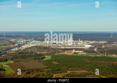 Chemiepark Marl ,formerly Chemische Werke Hüls AG , industrial park, chemical site, in Marl in NRW. Marl, Ruhr, North Rhine-Westphalia, Germany, Marl, - Stock Photo