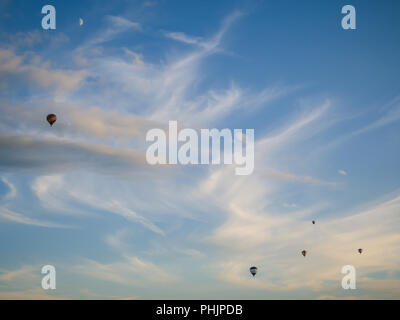 Joure, The Netherlands - july 30 2017: Every year the Frisian Balloon Festival is a beautiful spectacle of dozens of hot air balloons in the heart of  - Stock Photo