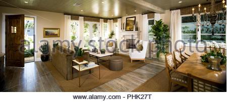 Open plan living area - Stock Photo