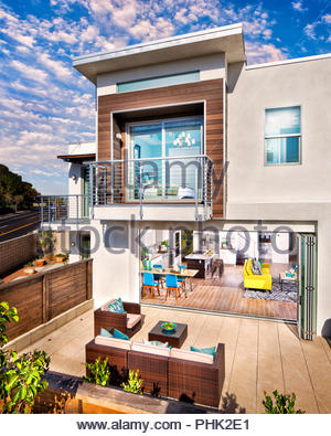 House and patio - Stock Photo