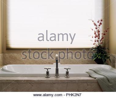 Flowers by bath - Stock Photo