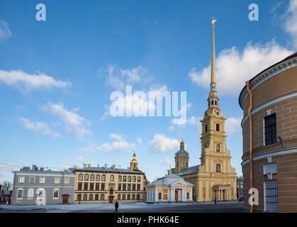 Peter and Paul Cathedral in St. Petersburg - Stock Photo