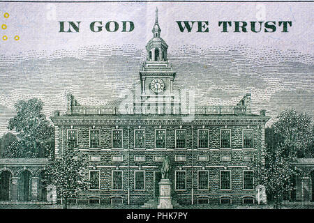 The fragment of 100 dollar bill - Stock Photo