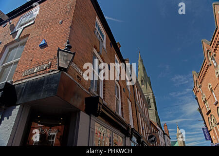 An old gas lamp in the conservation area of Leicester - Stock Photo
