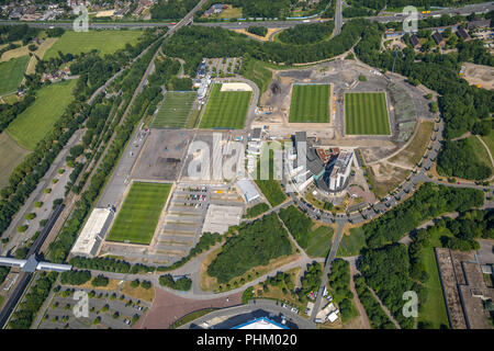 Aerial view, ARENA PARK Gelsenkirchen, Veltins-Arena, Arena AufSchalke in Gelsenkirchen is the soccer stadium of the German soccer club FC Schalke 04, - Stock Photo