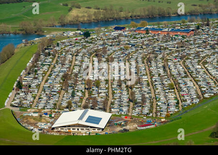 Campingplatz Grav-insel GmbH & Co KG, 2000 pitches and Germany's largest campsite in Wesel in NRW. Wesel, Rhineland, Hanseatic City, Lower Rhine, Nort - Stock Photo