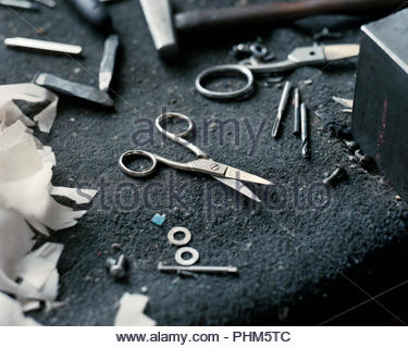 Making scissors - Stock Photo