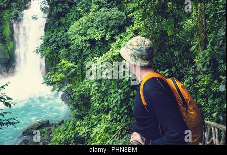 Waterfall in Costa Rica - Stock Photo