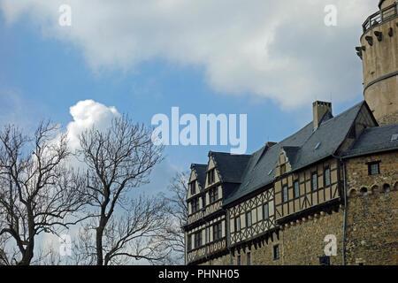 Castle Falkenstein in the Harz,germany - Stock Photo