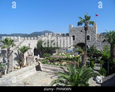 Marmaris Castle and museum, Mugla province, Turkey - Stock Photo
